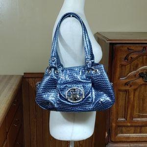 Kathy Van Zeeland Snakeskin Shoulder Bag